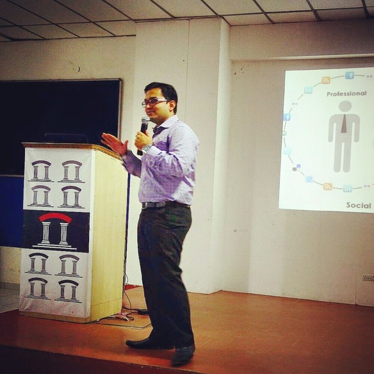 Interactive with students at RK University
