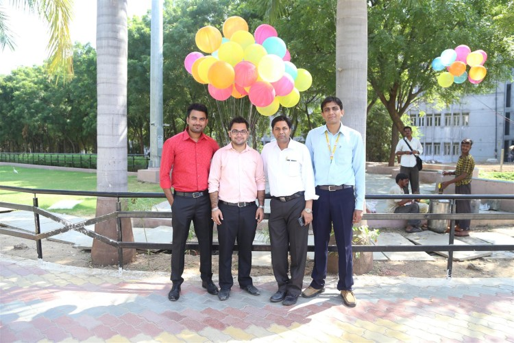 With my colleagues at Parul University, 2015