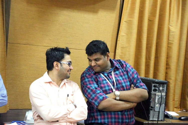 Me & Dhruvil - well just planning for our next mischief!