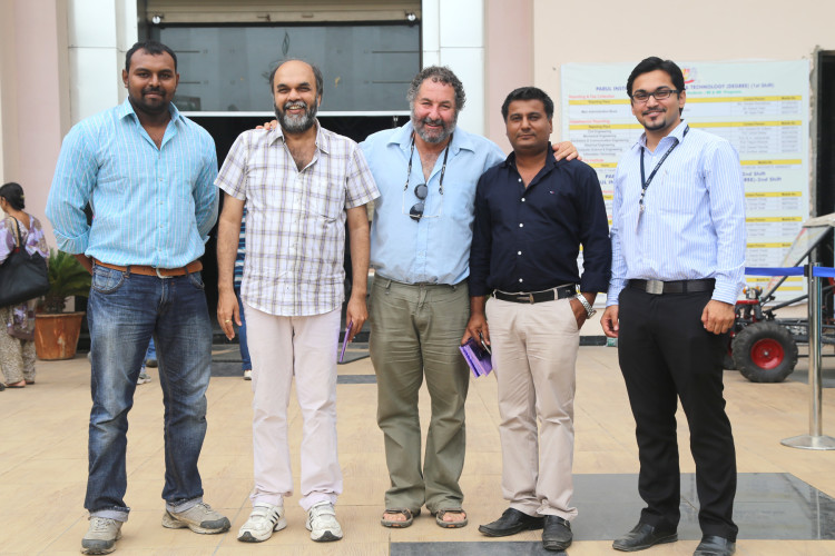 With Mr. Nikitin Contractor & Mr. Aerial Innerman fron Israle after talk at Parul University