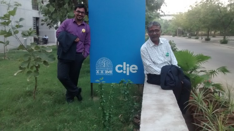 With Prof. Shantanu Chakravarthy at IIM Ahmedabad