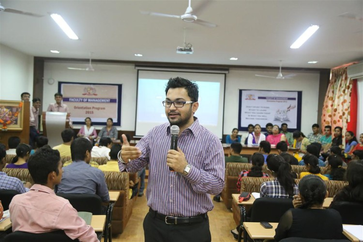 Addressing the Freshers on