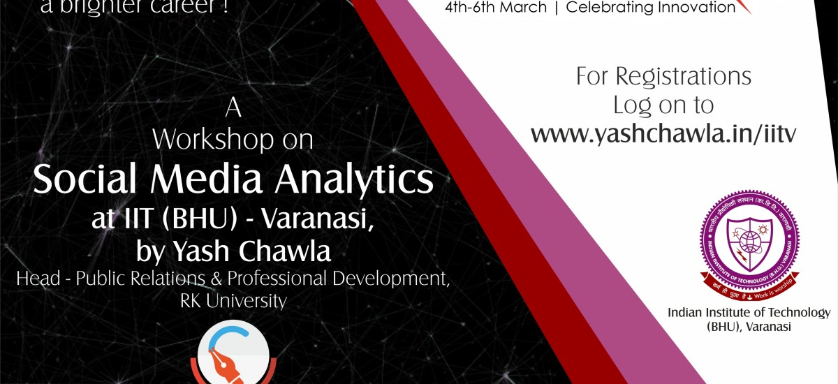 Workshop on Social Media Analytics at Technex – IIT (BHU), Varanasi