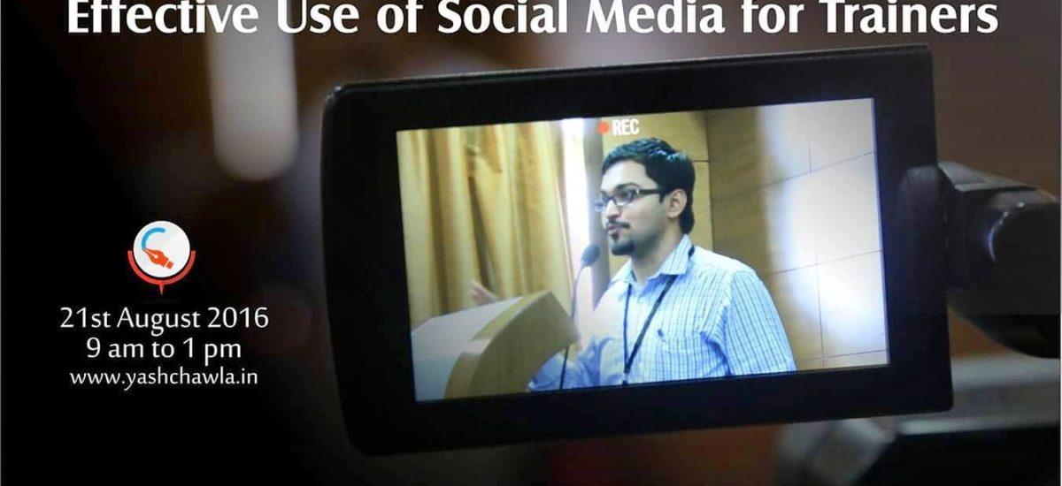 Workshop on Effective Use of Social Media for Trainers at ISTD Navi Mumbai