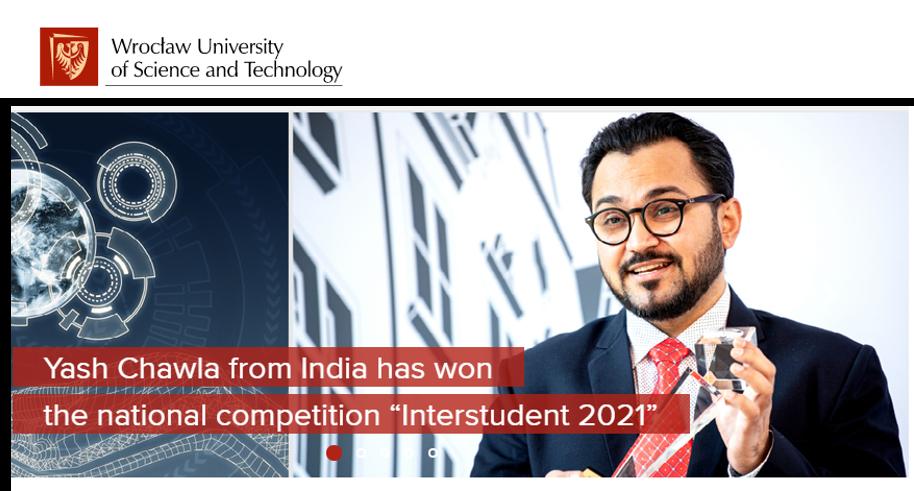INTERSTUDENT 2021 – Best International PhD Student in Poland